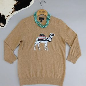 J Crew size S Camel Sweater in wool cashmere blend